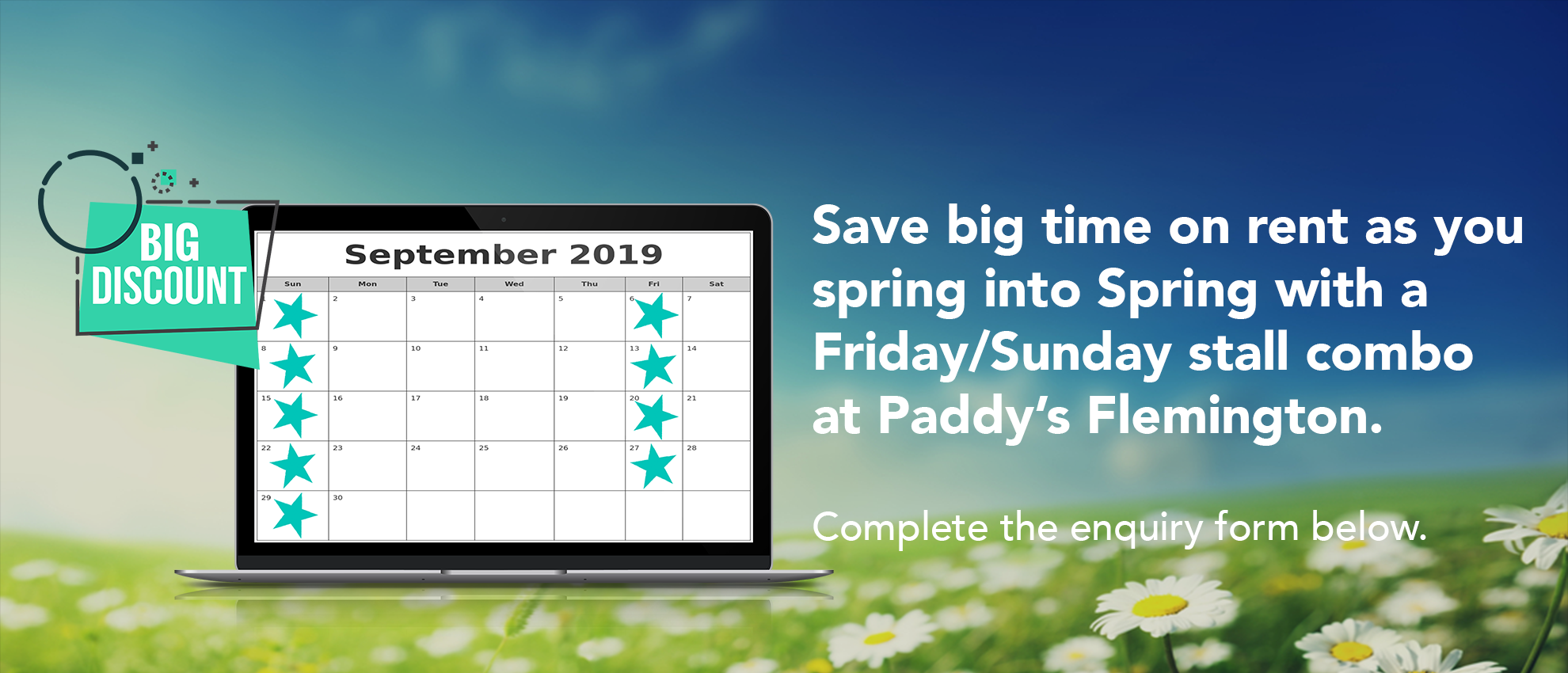 Save Rent In September 2018 at Paddy's Flemington