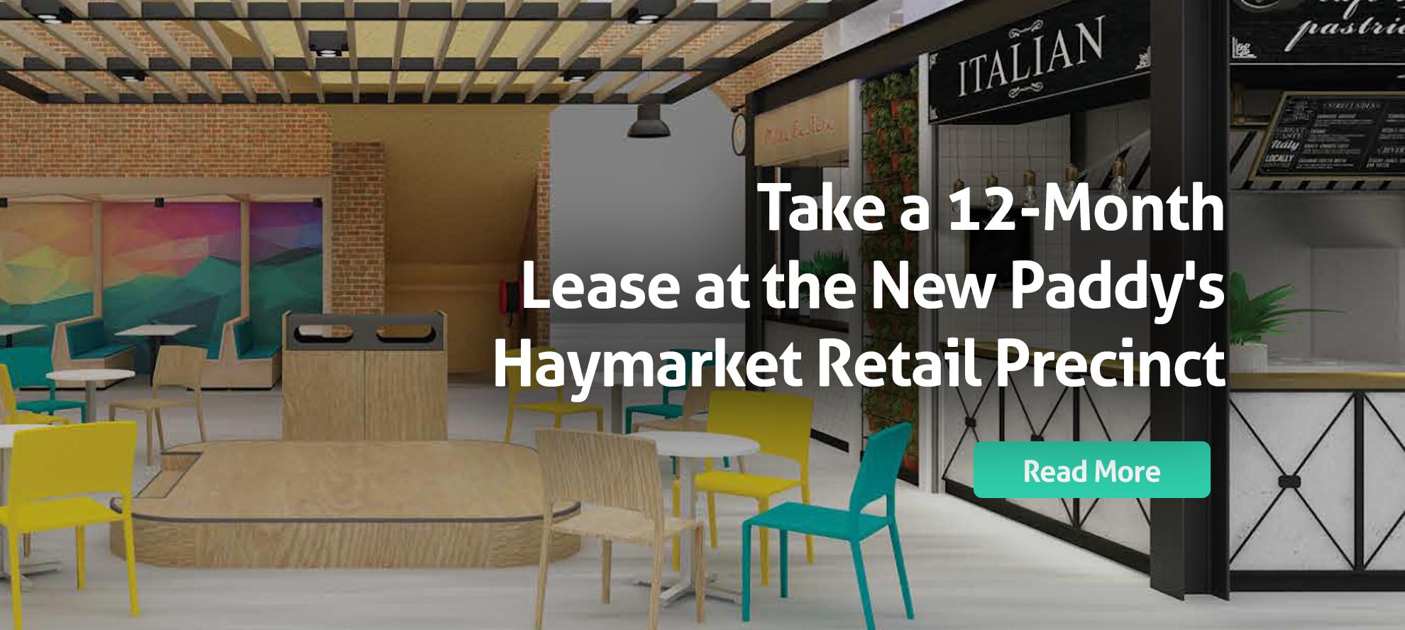Short term leases at new Haymarket Markets Retail Precinct
